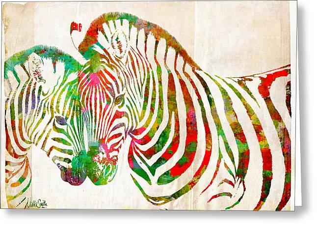Zebra Lovin Greeting Card by Nikki Smith