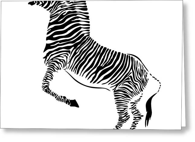 Rearing Up Greeting Cards - Zebra Greeting Card by Michal Boubin