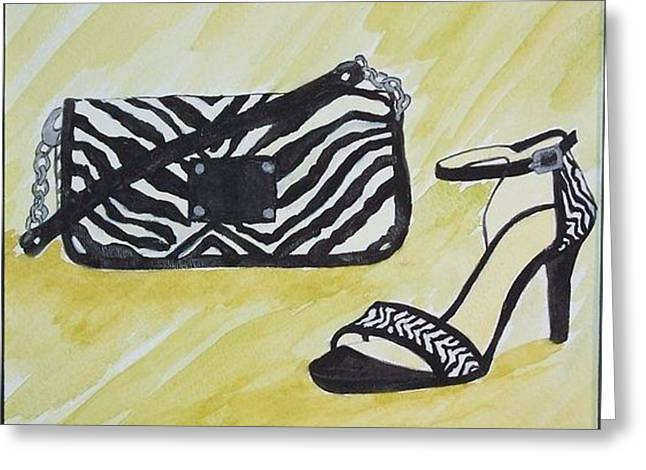 Straps Greeting Cards - Zebra Paair Greeting Card by Patricia Voelz