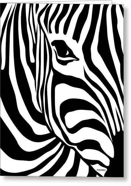 Africa Art Prints Greeting Cards - Zebra Greeting Card by Ron Magnes