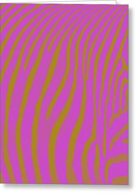 Fushia Greeting Cards - Zebra Shmebra Greeting Card by Michelle Calkins
