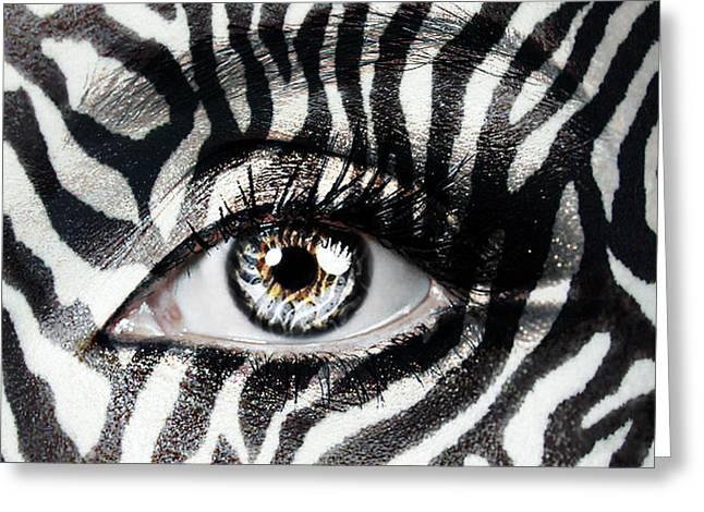Zebra  Greeting Card by Yosi Cupano