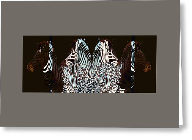 Abstract Digital Drawings Greeting Cards - Zebraic Equation Greeting Card by Stephanie Grant