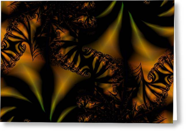 Tiger Fractal Greeting Cards - Zee Greeting Card by Lauren Goia