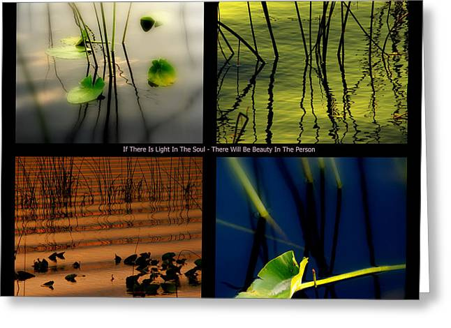 Best Sellers -  - Green And Yellow Abstract Greeting Cards - ZEN for you Greeting Card by Susanne Van Hulst