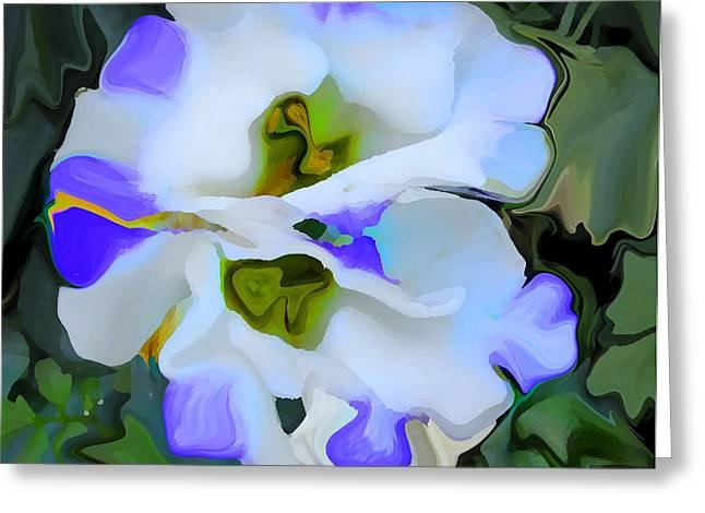 Floral Photos Mixed Media Greeting Cards - Zen Joya Fiore Greeting Card by Robert OP Parrish