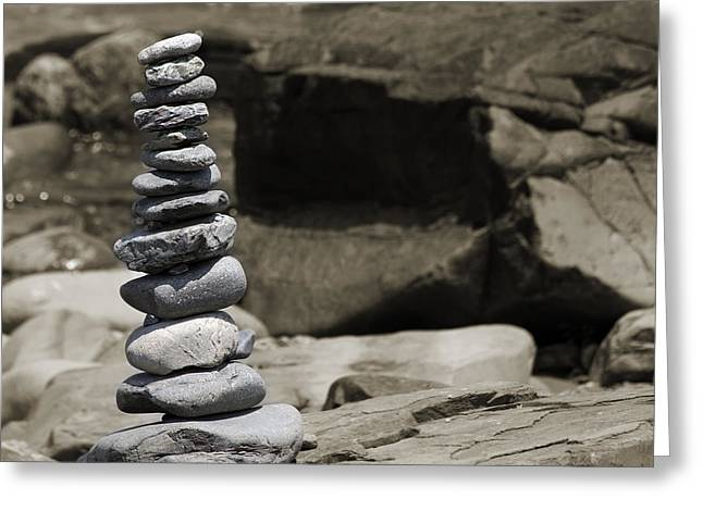 Inner Self Greeting Cards - Zen Power Tower Greeting Card by Betsy C  Knapp