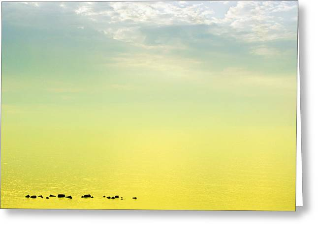 Zen-like Greeting Cards - Zen seascape Greeting Card by Silvia Ganora