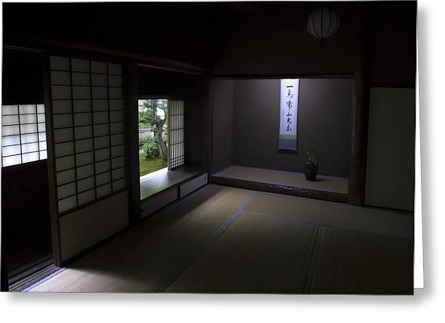 Kyoto Greeting Cards - ZEN TEA ROOM of KOTO-IN TEMPLE -- KYOTO JAPAN Greeting Card by Daniel Hagerman