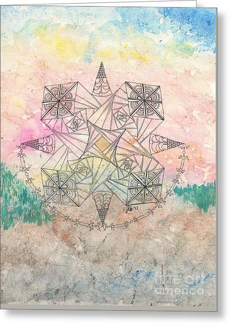 Pen And Paper Greeting Cards - Zendala Jumprope Greeting Card by Lori Kingston