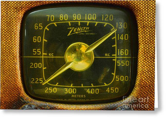 Zenith Radio Dial Greeting Card by Paul Ward