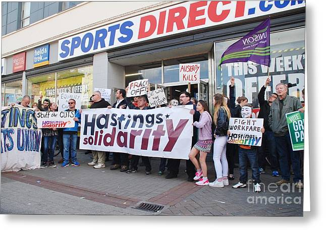 Anti Greeting Cards - Zero hours contract protest at Hastings Greeting Card by David Fowler