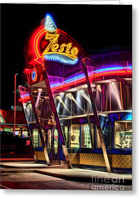 Photographers Ellipse Greeting Cards - Zestos Greeting Card by Corky Willis Atlanta Photography