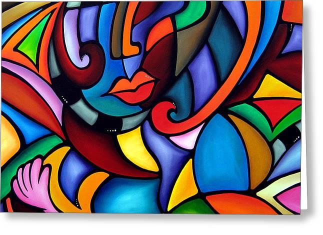 Zeus - Abstract Pop Art By Fidostudio Greeting Card by Tom Fedro - Fidostudio
