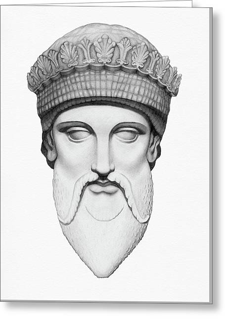 Zeus - King Of The Gods Greeting Card by Stevie the floating artist
