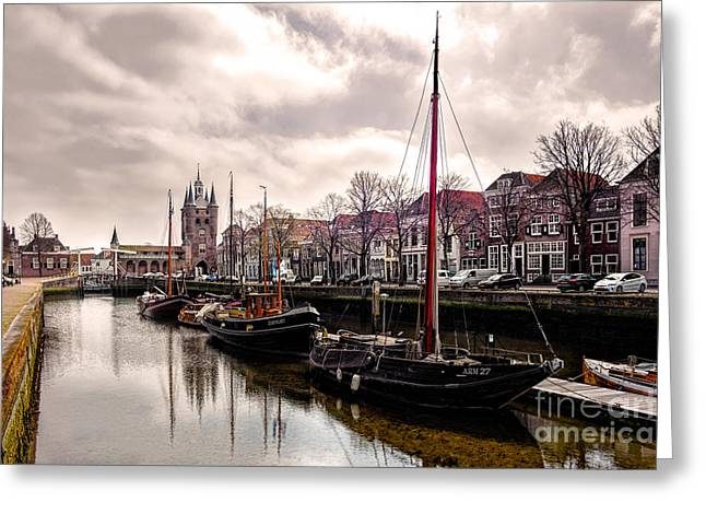 Wooden Ship Greeting Cards - Zierikzee Zuidhavenpoort Greeting Card by Daniel Heine