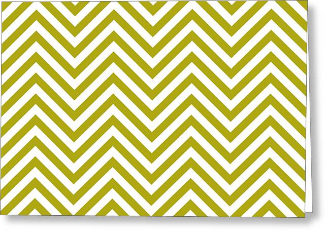 Matt Greeting Cards - Zig Zag Greeting Card by Matt