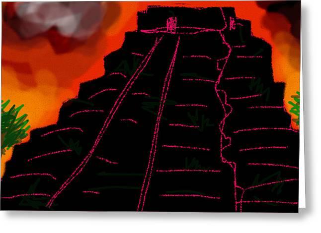 Rectangles Greeting Cards - Ziggurat Xhocolatec Greeting Card by Paul Sutcliffe
