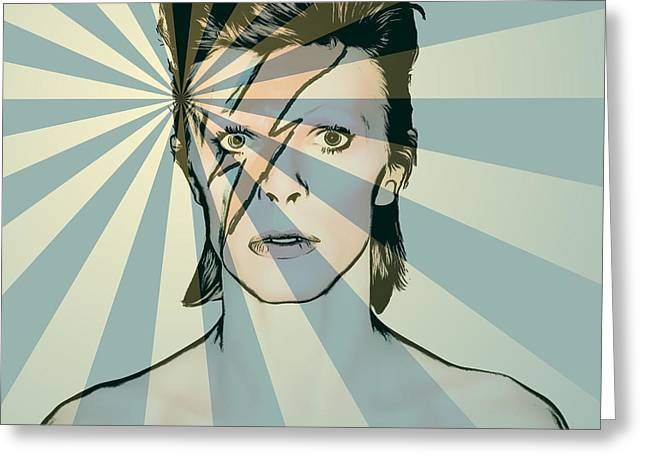 Ziggy Stardust Greeting Cards - Ziggy Greeting Card by Dan Sproul