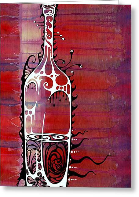 Wine-bottle Greeting Cards - Zinfandel Greeting Card by John Benko