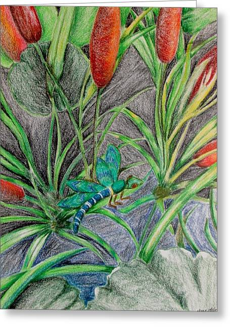 Zing On A Lilly Greeting Card by Nkese Miller