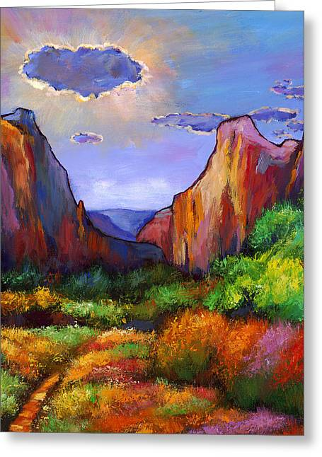 Orange Greeting Cards - Zion Dreams Greeting Card by Johnathan Harris