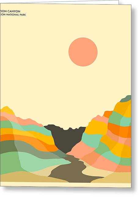 Zion National Park Greeting Card by Jazzberry Blue