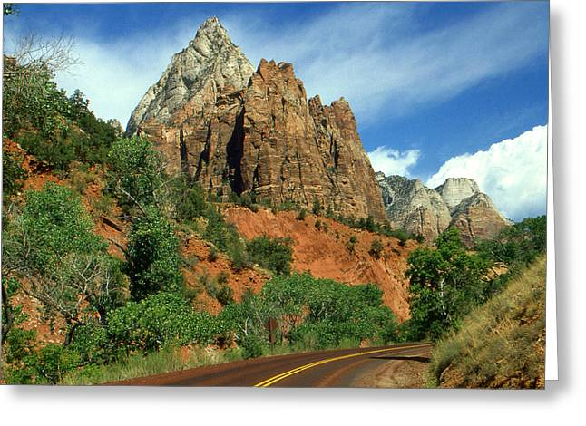 Photo Art Gallery Greeting Cards - Zion National Park - Utah Landscape Photo Greeting Card by Peter Fine Art Gallery  - Paintings Photos Digital Art