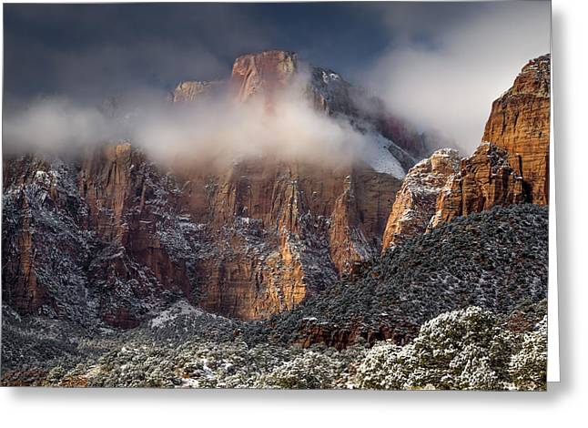 Southern Utah Greeting Cards - Zion Park Greeting Card by Ron Broad