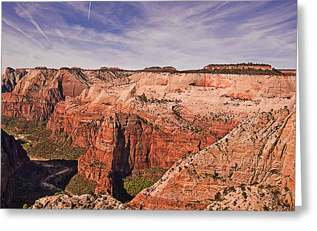 Southern Utah Greeting Cards - Zions Observation Point II Greeting Card by David Simpson