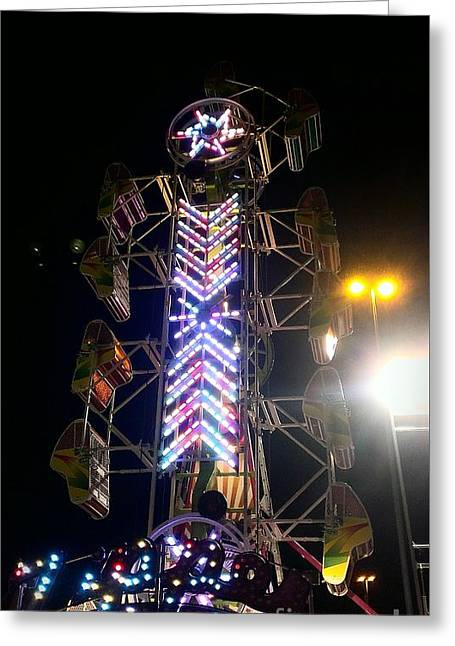 Amusements Greeting Cards - Zipper Greeting Card by LKB Art and Photography