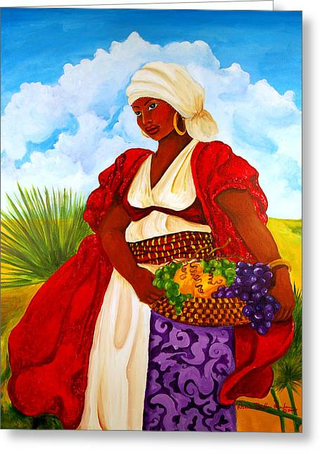 St. Helena Island Greeting Cards - Zipporah Greeting Card by Diane Britton Dunham