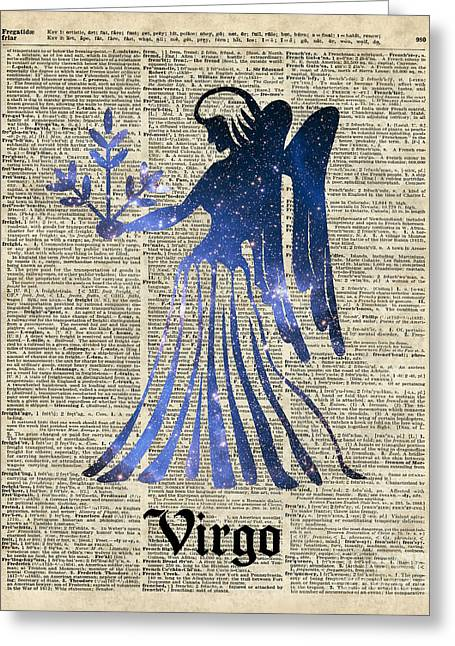 Office Space Digital Greeting Cards - Zodiac Sign Virgo Maiden Greeting Card by Jacob Kuch