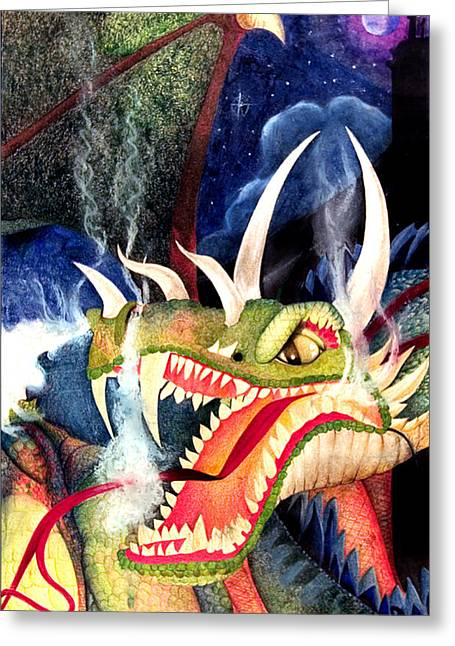 Carrie Glenn Greeting Cards - Zoe Dragon Greeting Card by Carrie Jackson