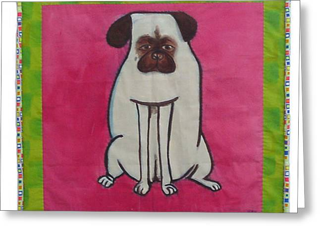 Dog Tapestries - Textiles Greeting Cards - Zoe Greeting Card by Grace Matthews