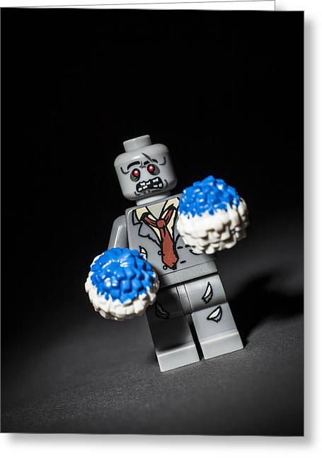 Lego Greeting Cards - Zombie Cheerleader  Greeting Card by Samuel Whitton