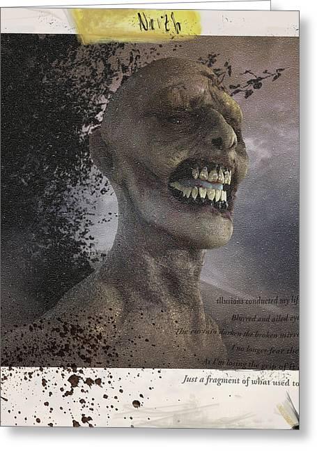 Concept Sculptures Greeting Cards - Zombie Greeting Card by Nestor Gonzalez Cruz
