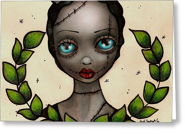 Zombie Nurse Greeting Card by  Abril Andrade Griffith