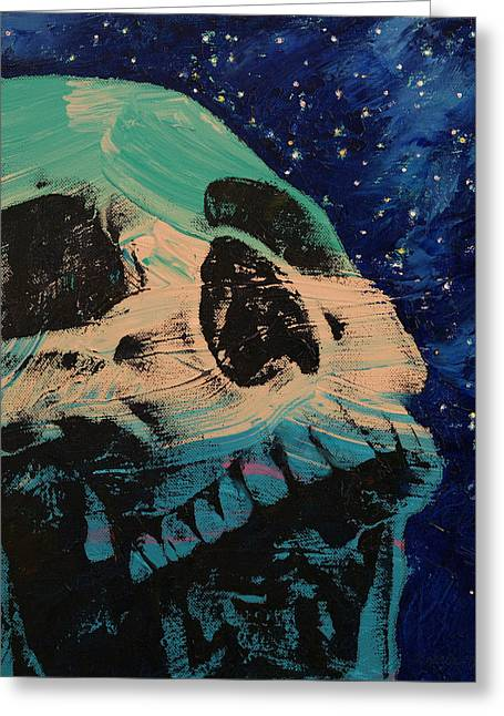 Zombie Stars Greeting Card by Michael Creese