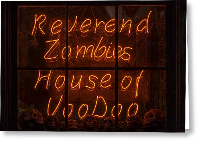 Zombies House Of Voodoo Greeting Card by Garry Gay