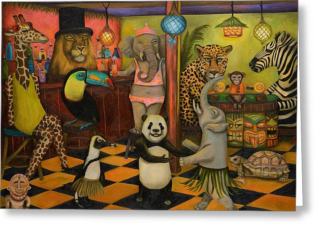 Zoobar Greeting Card by Leah Saulnier The Painting Maniac