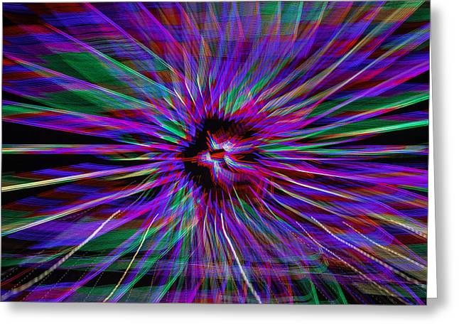 Radiance Greeting Cards - Zoom Star Greeting Card by Garry Gay