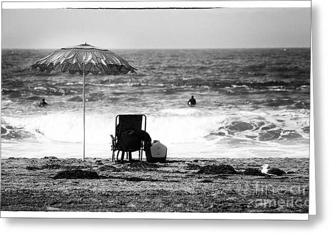 Pacific Ocean Prints Greeting Cards - Zuma Beach View Greeting Card by John Rizzuto