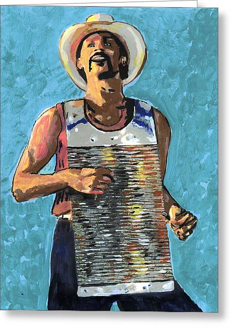 Zydeco Greeting Cards - Zydeco Joe Greeting Card by Jerry Schwehm