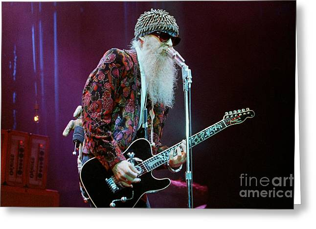 Famous Artist Greeting Cards - ZZ Top-Billy-0682 Greeting Card by Gary Gingrich Galleries