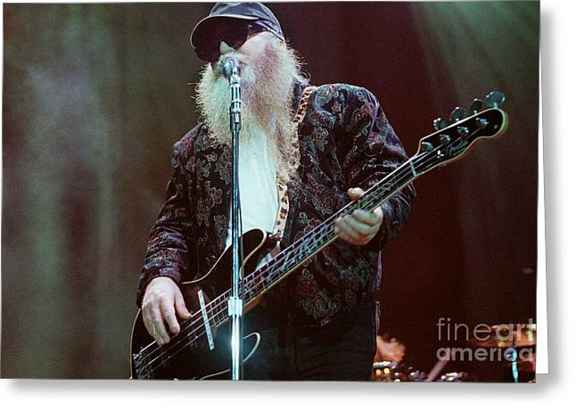 Famous Artist Greeting Cards - ZZ Top-Dusty-0724 Greeting Card by Gary Gingrich Galleries