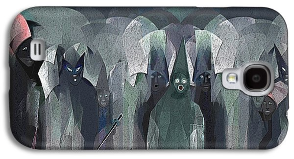 Ghastly Galaxy S4 Cases -   001 - Nightwalkers dark ... Galaxy S4 Case by Irmgard Schoendorf Welch