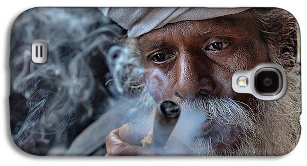 People Pyrography Galaxy S4 Cases -  A Dream in Smoke Galaxy S4 Case by Sudipta Dutta Chowdhury