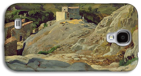 In The Shade Galaxy S4 Cases -  A Village in the Mountains Galaxy S4 Case by Louis Gurlitt