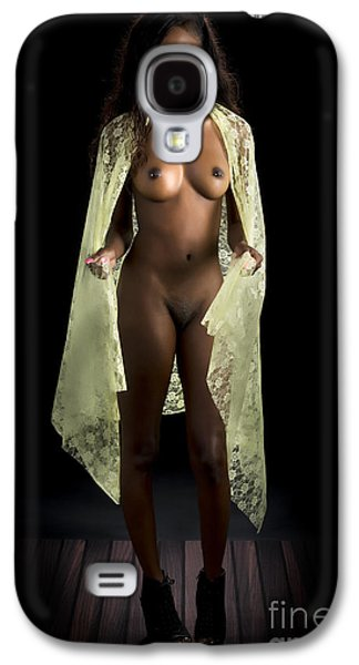 Recently Sold -  - African-american Galaxy S4 Cases -  African Nude Girl Standing 1280.02 Galaxy S4 Case by Kendree Miller